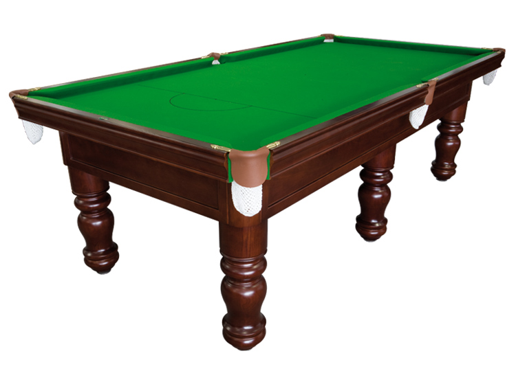 Great A Mid Range Table With Modern Style Turned Legs, Wide 1 Piece Cushion Rail,  Brass Brackets And Leather Pockets. Available In A Wide Range Of Colours.