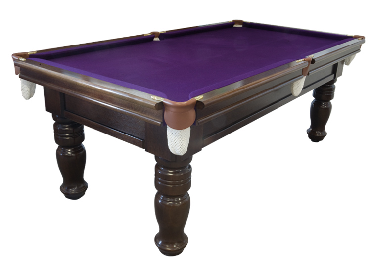 Superb A Classic Style Table With A Wide 3 Piece Tongue And Grooved Cushion Rail,  Brass Brackets And Leather Pockets. Available In A Wide Range Of Colours.